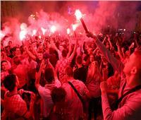 روسيا 2018| احتفال «جنوني» لجماهير كرواتيا بعد الفوز على الدنمارك «صور»