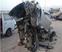 مصرع شخص وإصابة ٤ إثر انقلاب سيارة بطريق «غارب - الزعفرانة»