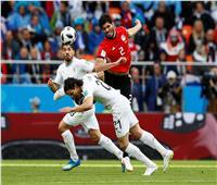 روسيا 2018| مشجع مصري يخطف الأضواء بمباراة فرنسا وأوروجواي