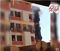 شاهد| اللحظات الأولى لحريق مستشفى الحسين الجامعي