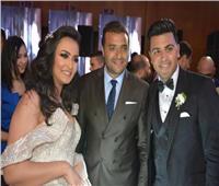 صور| رامي صبري وسعد الصغير وبوسي نجوم زفاف «يوسف وسارة»