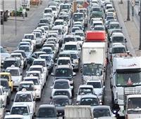 «المرور» كثافات مرورية أعلى كوبري أكتوبر بالاتجاهين