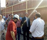 رئيس المترو ينتقل لموقع حادث انقلاب عربتي مترو المرج