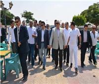 وزير الشباب والرياضة ومحافظ الشرقية يتفقدان نادي الرواد