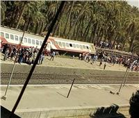 الفيديو الأول لحادث انقلاب قطار البدرشين