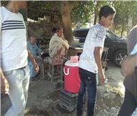 قطار البدرشين| سكان «المرازيق» يوفرون خزانات المياه بموقع الحادث