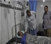 صور| محافظ الجيزة يزور المصابين في حادث قطار البدرشين