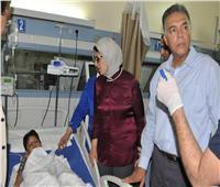 وزيرا الصحة والنقل يتفقدان مصابي قطار البدرشين بمستشفى معهد ناصر