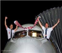 قبل نهائي المونديال.. الخطوط الجوية الكرواتية تدعم فريقها على طريقتها