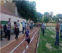 58 طالبا يشاركون في اختبارات ألعاب القوى للموهوبين بالمنيا