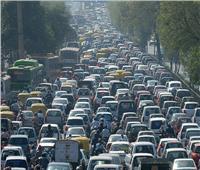 كثافات مرورية في شارع الهرم والطرق والميادين الرئيسية بالجيزة