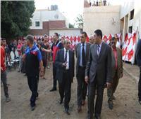 لجنة من وزارة الرياضة تتفقد مركز شباب كفر زهران بقرية المرازيق بالبدرشين