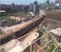 عاجل  انزلاق إحدى عجلات عربات قطار «المنصورة - دمياط»