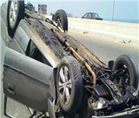 مصرع عامل وإصابة 5 أخرين فى حادث انقلاب سيارة بالفيوم