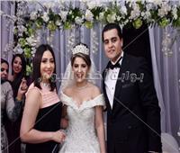 صور| زفاف «سلامة وسندس» برعاية الليثي وبوسي