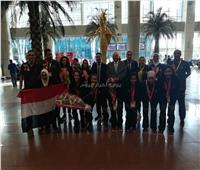 صور| وزير الرياضة يستقبل بطلات «الأولمبياد الخاص» بمطار القاهرة