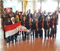 استقبال بعثة منتخب مصر للكرة النسائيةلـ«الأولمبياد الخاص» بالورود