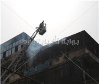 فيديو| المشاهد الأولى للسيطرة على حريق نقابة التجاريين