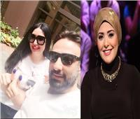 صورة| صابرين تهنئ عبير صبري بعد زواجها