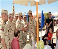 وزير الدفاع يزور عدد من مراكز تدريب القوات المسلحة ويلتقي بالجنود المستجدين