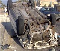 مصرع وإصابة 5 أشخاص في حادث مروع بطريق اﻹسماعيلية الصحراوي