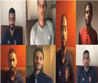 فيديو  بعد طرحة ألبومه الجديد.. لاعبو الأهلي يهنئون رامي جمال