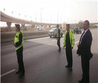 مدير الإدارة العامة للمرور يتفقد الطرق الرابطة بين المحافظات