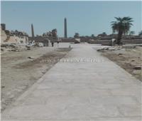 انتهاء أعمال تأهيل ممرات المحور الثاني للزيارة بمعابد الكرنك