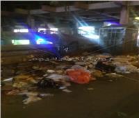 تكدس القمامة بشارع الهرم