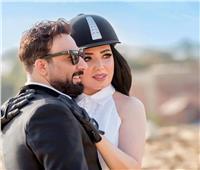 أول ظهور لعبير صبري مع زوجها أيمن البياع