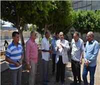 محافظ الاسماعيلية يتابع تطوير الحدائق العامة