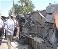 انقلاب سيارة نقل أموال بالطريق الصحراوي في الإسكندرية