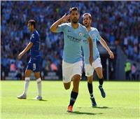 «أجويرو» يسجل الهدف الأول لمانشستر سيتي