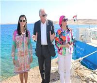 وزيرا البيئة والسياحة ومحافظ جنوب سيناء يتفقدون محمية رأس محمد