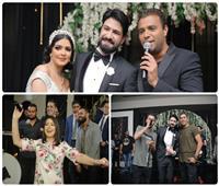 صور| رامي صبري وبوسي واوكا واورتيجا نجوم زفاف «محمود و فيروز»