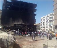 اخماد حريق بورشة لصيانة السيارات بمنطقة الزلزال في المقطم