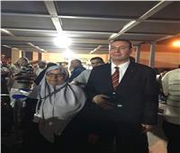صور  السفير الفلسطيني يستقبل الفوج الثالث من حجاج قطاع غزة
