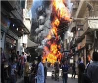 ارتفاع عدد ضحايا انفجار مستودع أسلحة بإدلب السورية إلى 36 قتيلا