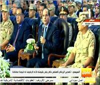 الرئيس السيسي: المشروعات القومية تقلل الاستيراد وتوفر العملة الصعبة