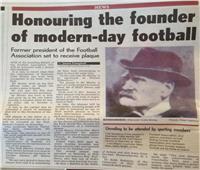 «جوجل» تحتفل بالذكرى الـ187 لميلاد الأب الروحي لكرة القدم