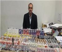 إحباط تهريب كمية من زيوت الشيش الإلكترونية في مطار برج العرب