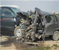إصابة 8 مواطنين في حادث تصادم سيارتين بالفيوم