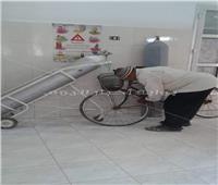 لقطة اليوم| أكسجين بدلا من «المنفاخ» لتزويد إطار دراجة بأحد المستشفيات