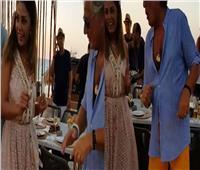 فيديو  «وصلة رقص» بين مصطفي فهمي وزوجة خالد سليم