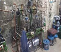 ضبط مصنع للأسلاك الكهربائية مجهولة المصدر بمنشأة ناصر