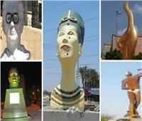صور| ميادين السخرية على «السوشيال ميديا».. حكاية 15 تمثالا شوهتها «يد التطوير»