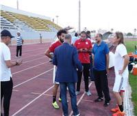 المنتحب يؤدي مرانه الثاني بحضور وزير الرياضة وأبو ريدة