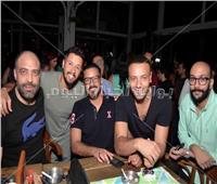 صور| محمد رجب يحتفل بخطوبة حمادة أبو العز ونهى حسن
