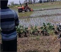 حرث 5 أفدنة أرض زراعية تعدى عليها مواطنون بملوي