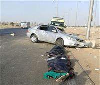 إصابة 10 في حادث تصادم ميني باص وسيارة ملاكي بطريق القطامية